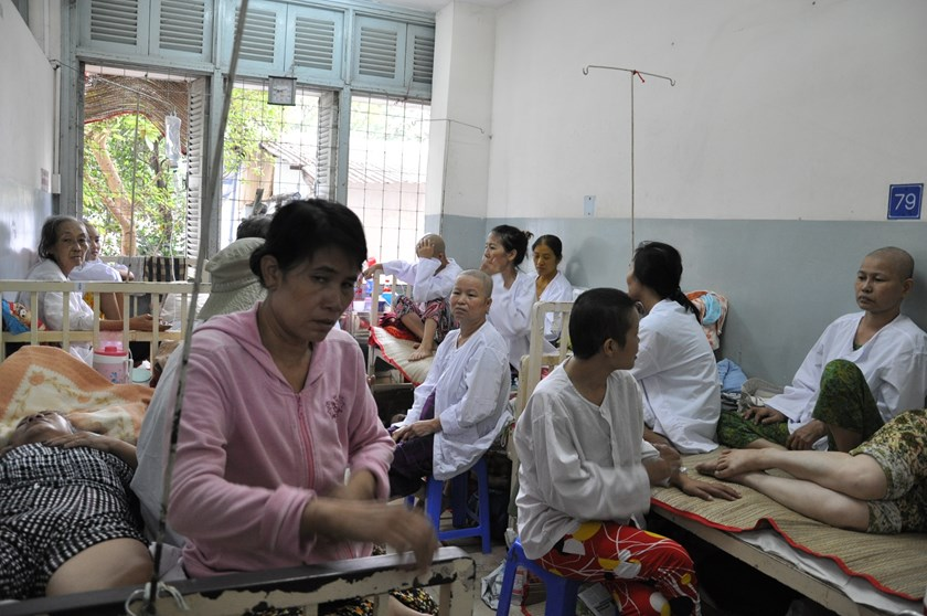 Cancer patients treated at the K Hospital, a major cancer treatment facility in Hanoi. Photo: Ngoc Thang