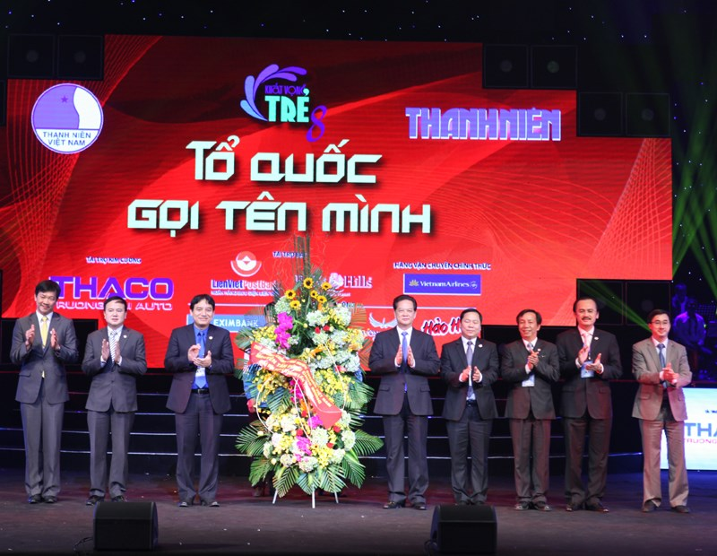 Prime Minister Nguyen Tan Dung at Thanh Nien's 8th Khat Vong Tre music show on December 28 in Hanoi. Photo: Ngoc Thang