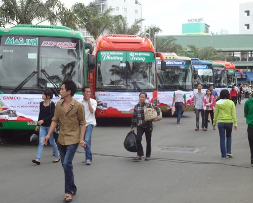 A bus terminal in Hanoi. Photo: Ngoc Thang