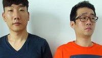 Im Seung Woo (L) and Lee Yong Hu are among the Koreans arrested on January 23, 2015 for operating gambling sites targeting players back home.
