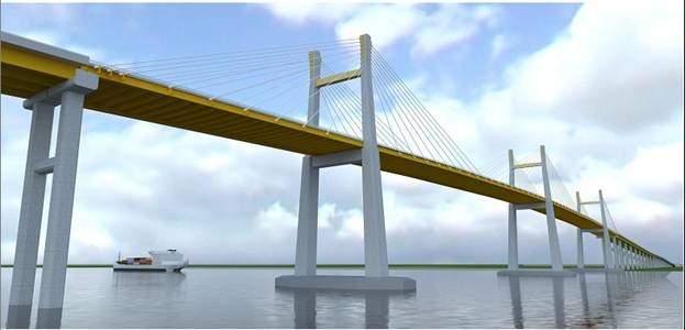 A blueprint of Bach Dang Bridge. Photo credit: baoxaydung.com.vn