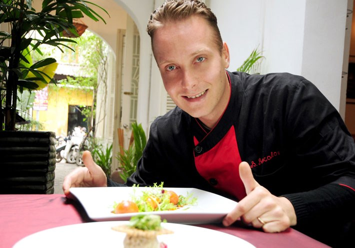 Chief Benjamin Rascalou of La Badiane restaurant in Hanoi is among the participants from Vietnam in the global French food festival Good France.