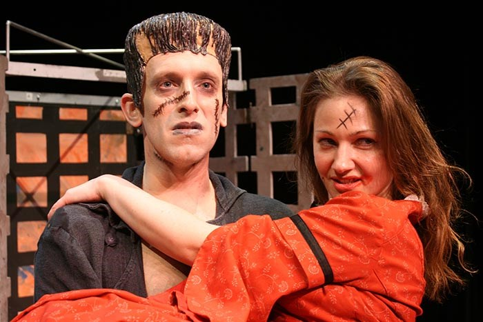 "Two actors in the play  ""Frankenstein - The Monster and the Myth"". File photo"