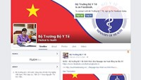The Facebook fan page of Vietnam's health minister Nguyen Thi Kim Tien