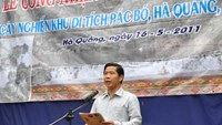 Lanh Duc Dung speaks at a local ceremony in a file photo. Photo credit: VACNE