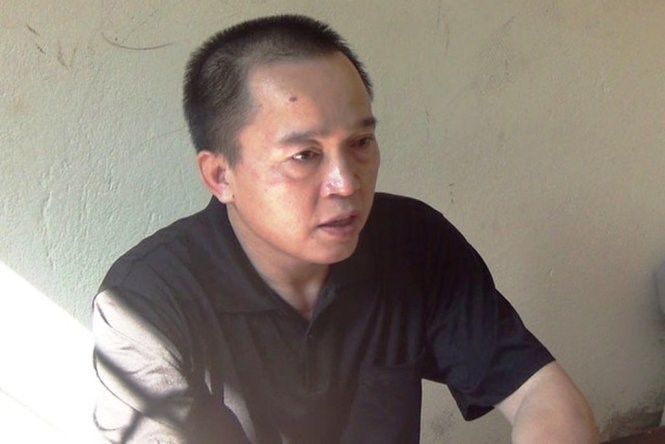 Nguyen Thanh Son from Nghe An Province has been jailed for one year for beating a mute and mentally ill boy. Photo credit: Tuoi Tre
