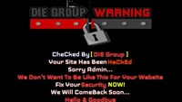 Die Group's hacking notice appears on a Vietnamese website on the morning of March 12, 2015. Photo credit: SecurityDaily