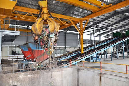 At a waste treatment plant in southern Vietnam. Photo credit: chinhphu.vn