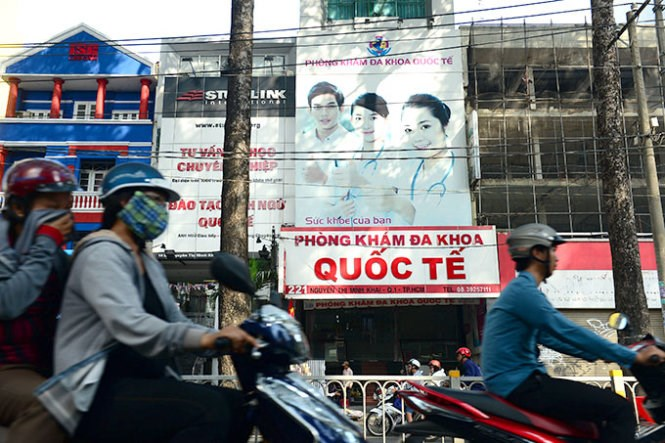 The private clinic in Ho Chi Minh City which is being caught in an abortion scandal after a patient almost died. Photo credit: Tuoi Tre