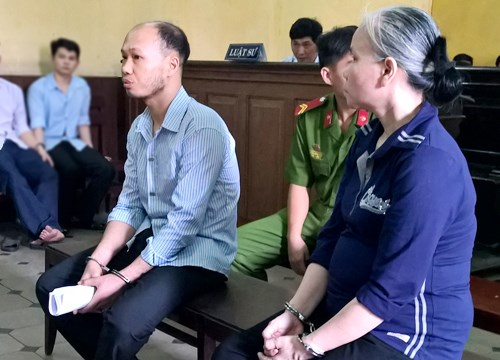Tuong Dinh Thuong and Ngo Thi Lan (R) at an appeal court in Ho Chi Minh City April 21, 2015 for selling newborns. Photo credit: VnExpress