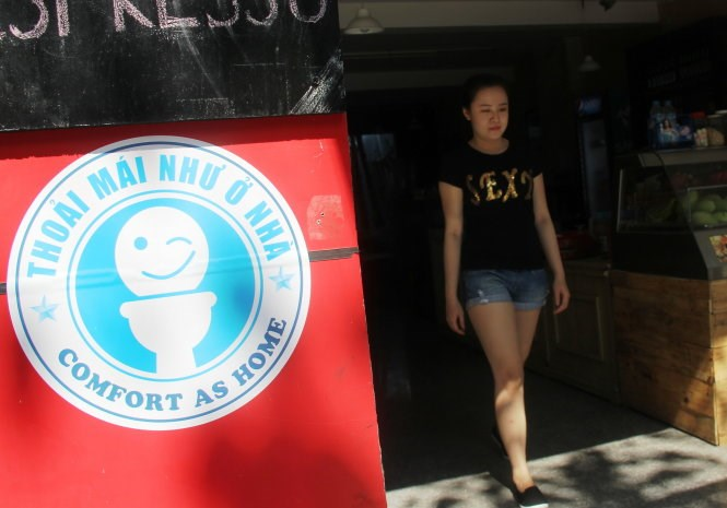 Da Nang hotels, cafés now letting tourists use clean toilets for free
