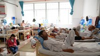Patients at Ho Chi Minh City Oncology Hospital. Photo credit: Tuoi Tre