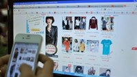 A shopping site accessible on cell phone. Photo credit: VnExpress