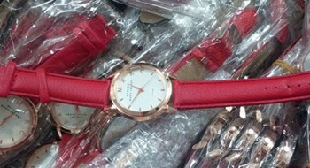 Fake luxury watches seized in Hanoi May 22, 2015.