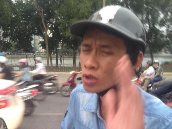 Tran Anh Cuong, 33, has been arrested for allegedly scamming several car drivers in Hanoi. File photo