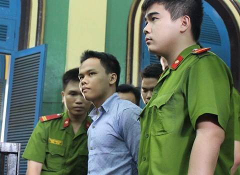 Nguyen Kim An at a court in Ho Chi Minh City June 12, 2015 for killing his friend. Photo credit: Thanh Nien