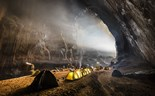 Tourists camp inside Son Doong Cave. Photo: Ryan Deboodt/www.ryandeboodt.com