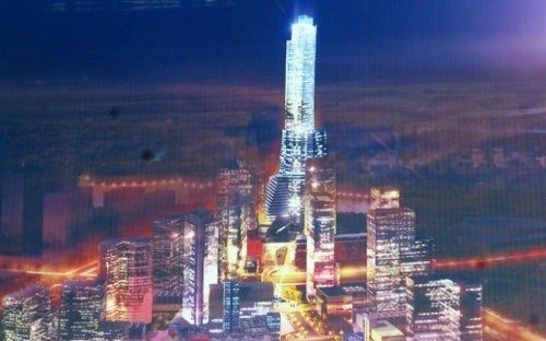 The blueprint of Empire City project in Ho Chi Minh City which will have the tallest building in Vietnam.