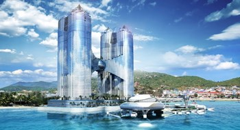 The planned mix property project Phoenix at Nha Trang beach. Photo courtesy of the investor