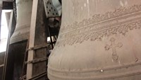 A close look at the giant bells of Saigon Notre Dame Cathedral