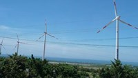 Wind turbines at a power plant in Binh Thuan Province. Photo credit: Saigon Times Online