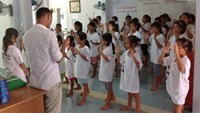 Sexual abuse victims during a group activity at a support center in Ho Chi Minh City. Photo: Nhu Lich