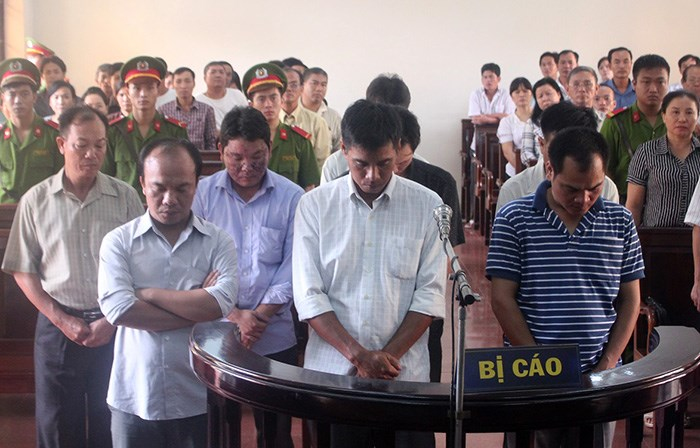Guards from a rehab center receive jail terms in Dong Nai Province July 29, 2015 for beating a patient to death after he organized an escape with others. Photo: Le Lam