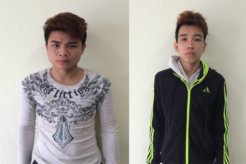 Pham Quang Hieu (L) and Ngo Xuan Long have been jailed for faking SIM card promotions to steal people's money. Photo credit: PetroTimes