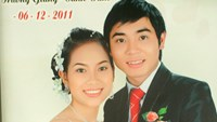 Nguyen Thi Oanh Dam and Tran Van Giang in their wedding photo in 2011.