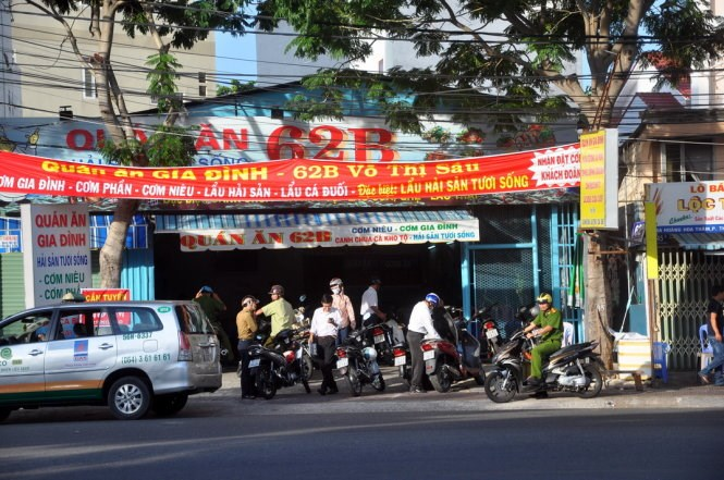 The Vung Tau restaurant which has been suspended after a rip-off complaint. Photo credit: Tuoi Tre