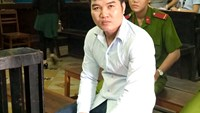 Nguyen Ly Toan at a trial in Ho Chi Minh City on August 7, 2015 for drug smuggling. Photo credit: VnExpress