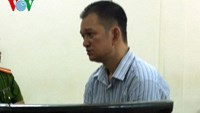 Emmanuel Sillo Camacho stands trial in Hanoi on August 18, 2015 for smuggling cocaine into Vietnam. Photo credit: Voice of Vietnam