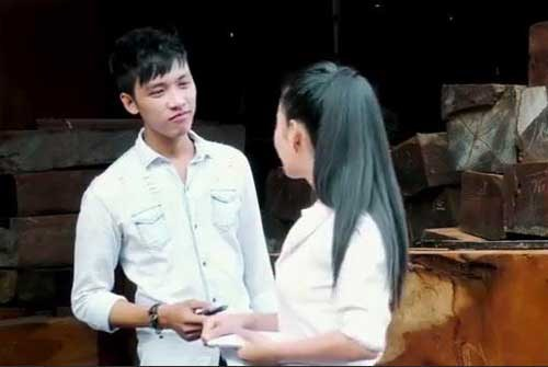 A scene from the film based on the murder of six people in a family in southern Vietnam last month.