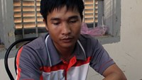 Kieu Quoc Huy, 27, at a police station in Bao Loc Town, Lam Dong Province. He was arrested on September 2 for allegedly