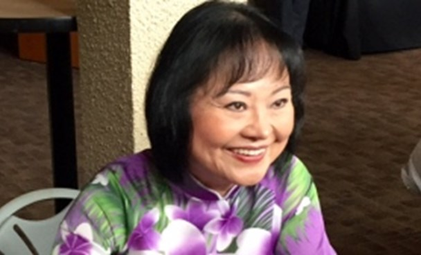 Phan Thi Kim Phuc after speaking at the Grant Memorial Baptist Church in Canada on September 6, 2015. Photo credit: CBC