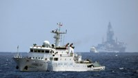 A Chinese surveillance ship operating in Vietnamese waters illegally in early May 2014. Photo: Doc Lap