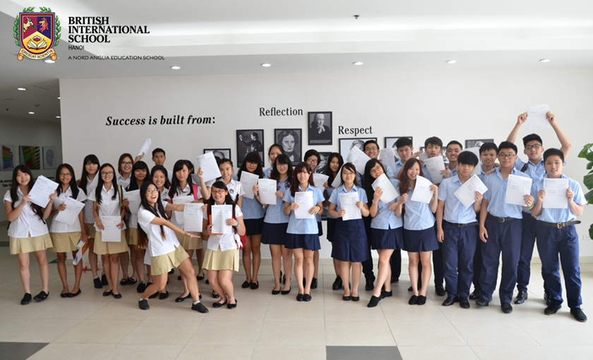 BIS Hanoi students celebrating their IGCSE results