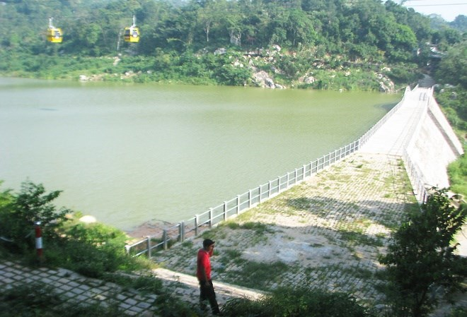 The 255,000-cubic-meter reservoir in An Giang Province. Photo credit: VnExpress