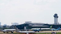 Aircraft in Tan Son Nhat Airport. Photo: Doc Lap
