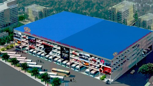 The planned design of the multi-story parking lot. Photo credit: SATSCO