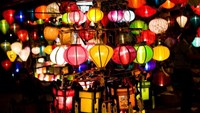 Colorful lanterns in Hoi An, which are more glowing during a full-moon night. Photo: Meogia
