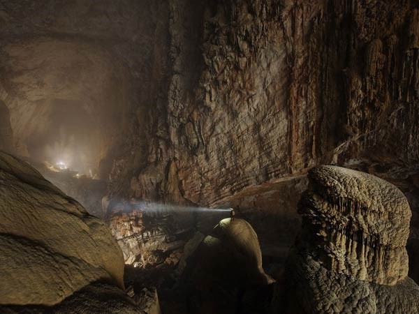 Limestone structures inside Son Doong Cave. Photo credit: National Geographic