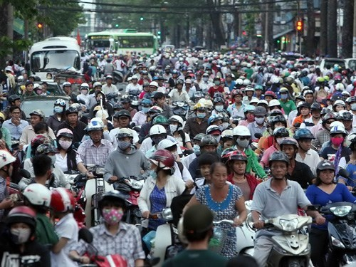 The large number of motorbikes is one reason for the air pollution in Vietnam, especially in large cities. Photo: Dao Ngoc Thach