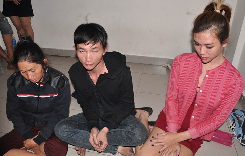 A group of pickpockets targeting foreigners arrested in Ho Chi Minh City's District 1 this year. Photo credit: Dan Tri