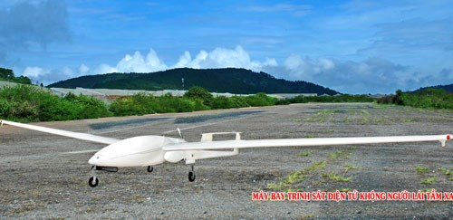 A photo provided by the Vietnam Academy of Science and Technology shows a drone model it has successfully developed.