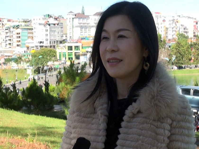 Ha Thuy Linh, late director of a major tea exporter in Lam Dong Province, in an interview with local media. Photo: Lam Vien