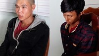 Two men, allegedly for raping and killing a sex worker, were arrested in Dak Nong Province on December 14, 2015. Photo: Phan Ba