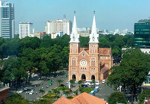 The Notre Dame Cathedral built by the French during their colonial time is one of the most popular tourist attractions in Ho Chi Minh City. Photo: Do Cuong/VGP