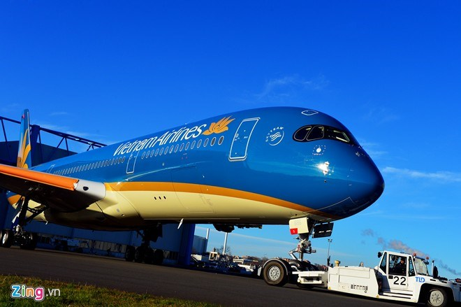 A Vietnam Airlines' Airbus 350. Photo credit: Zing