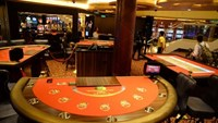 The casino on a US cruise ship that berths in Vung Tau in June 2015. Photo: Diep Duc Minh